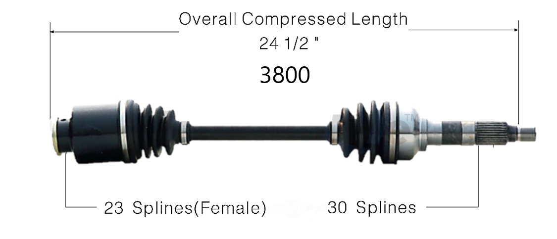 Left or Right Axle